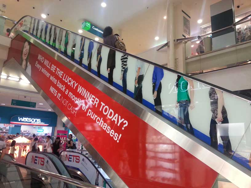 Image result for escalator advertising