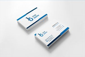 One Sixth Business Name Card