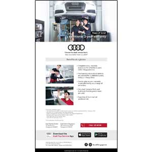 AUDI eNewsletter Design (EDM)