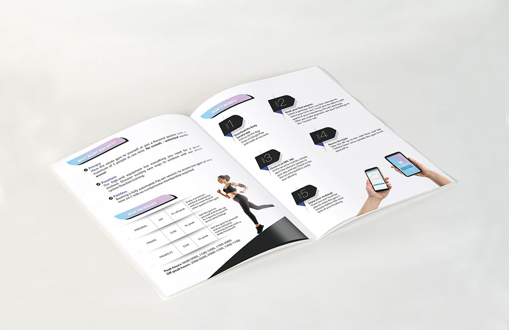 Body Society Brochure Design